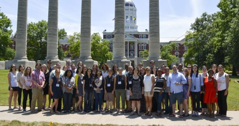 Participants of the NCA Doctoral Honors Seminar at the University of Missouri in July 2015.
