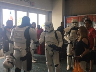 Stormtroopers at Comic-Con International in San Diego, July 2016.