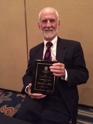 Emeritus Professor Walt Fisher awarded SDSU School of Communication Outstanding Alumni Award.