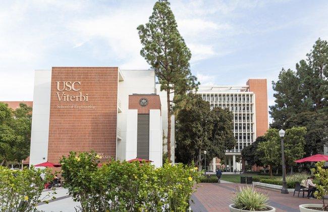 Photo of the USC Viterbi School of Engineering building
