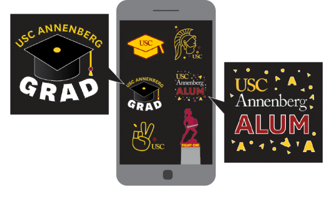 Examples of the USC Annenberg Instagram GIF pack