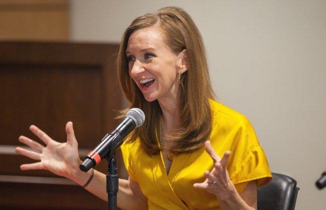 Lisa Desjardins gives advice to future journalists