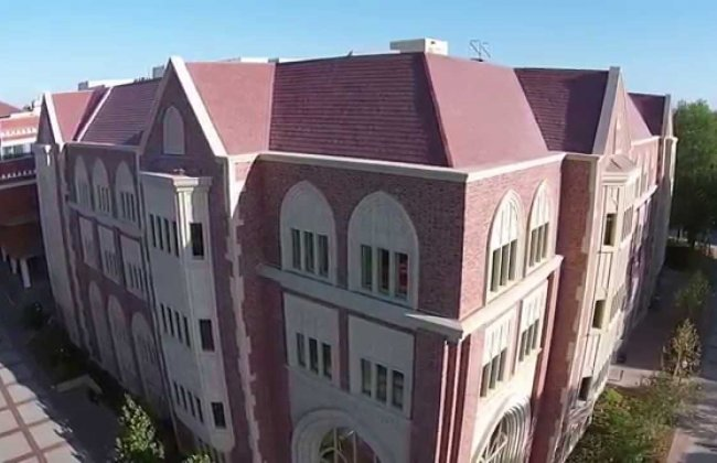 Wallis Annenberg Hall exterior (shot with a drone)