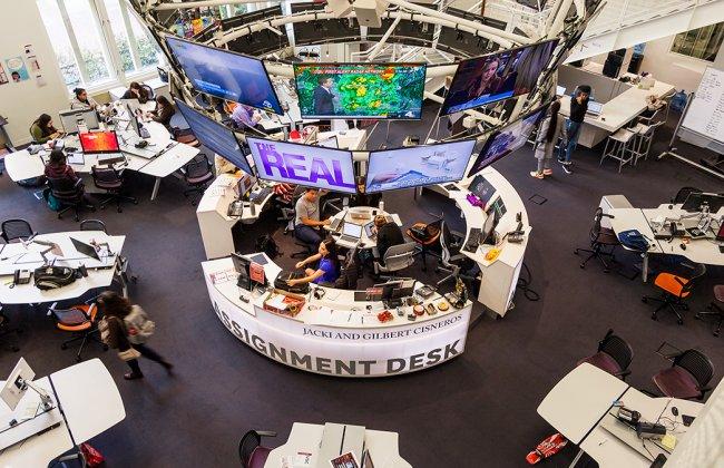 Photo of the USC Annenberg media center