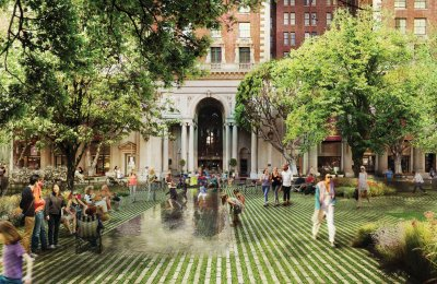 """Agence Ter's design for Pershing Square brings """"radical flatness"""" back to the park."""