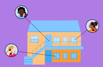 Illustration of tenants and landlord