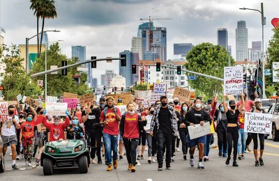 Photo of a Black Lives Matter Los Angeles protest