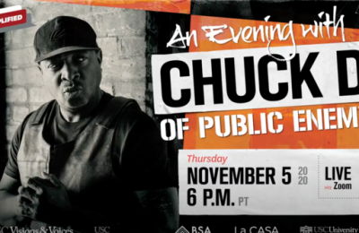 """Screenshot from """"an evening with Chuck D of Public Enemy"""" video"""