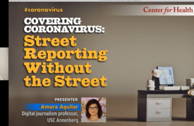 """Cover photo for video """"Covering the Crisis: Street reporting without the street"""""""