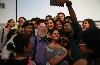 Professor Henry Jenkins at the Godrej India Culture Lab on a recent trip to Mumbai.