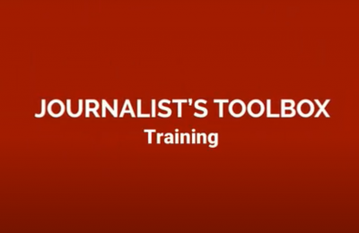 Cover for Journalist's Toolbox video training