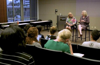 Top executives coach master's students on real-world communication skills