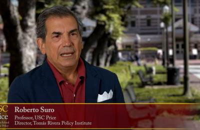 Screencap from Roberto Suro's video bio