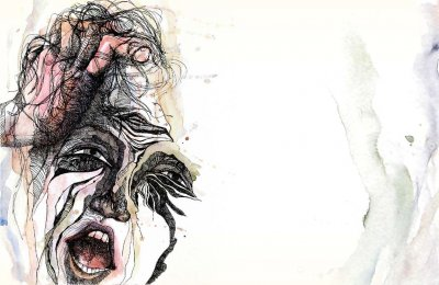 """Art work from the Seattle Times story """"A Lost Voice"""" about Talia Goldenberg's spinal surgery."""