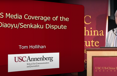 Photo of Tom Hollihan presentation screenshot