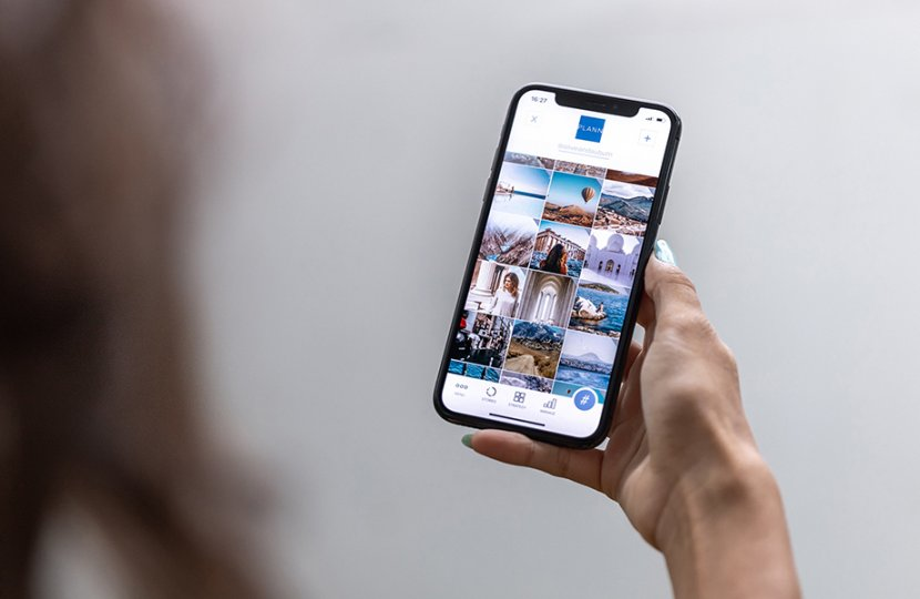 Photo of a person using a smartphone