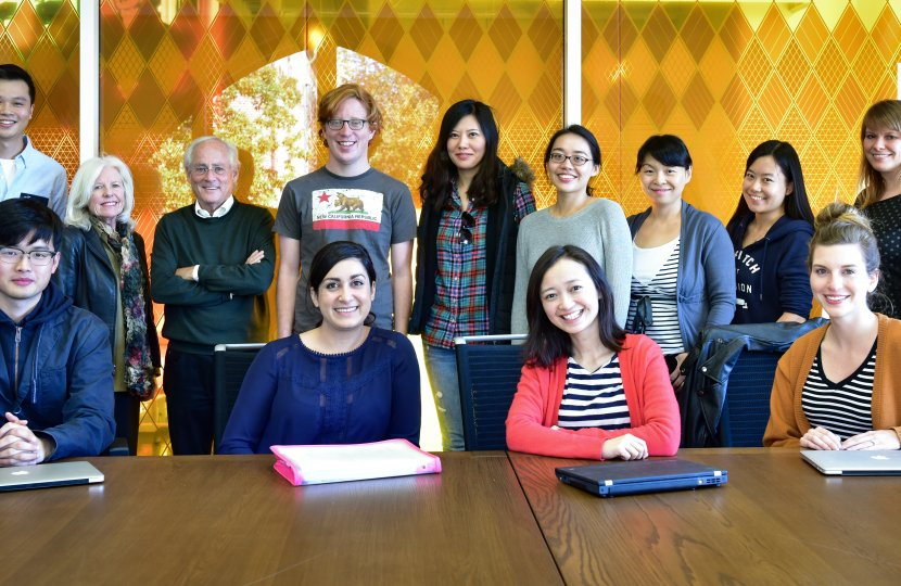 Professors Fulk, Monge, and Jian pose with student members of the Annenberg Networks Network (ANN).