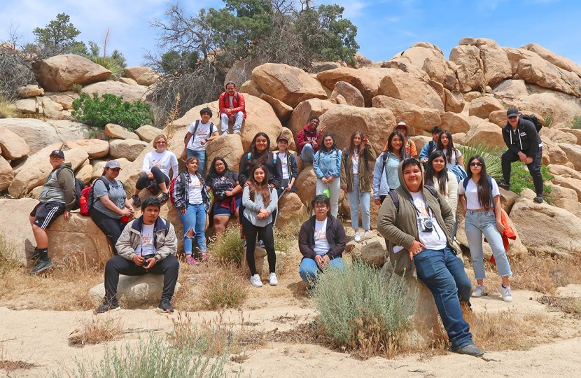 """Photo of High school students from Bravo Medical Magnet High School and the Communication and Technology School who took part in the """"I Too Am: Teens, Media Arts, & Belonging"""" project"""