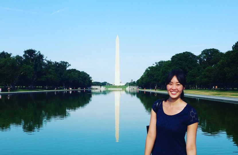 Doctoral student Jillian Kwong, who has spent the summer interning in Washington, D.C. with the COMPASS fellowship program.