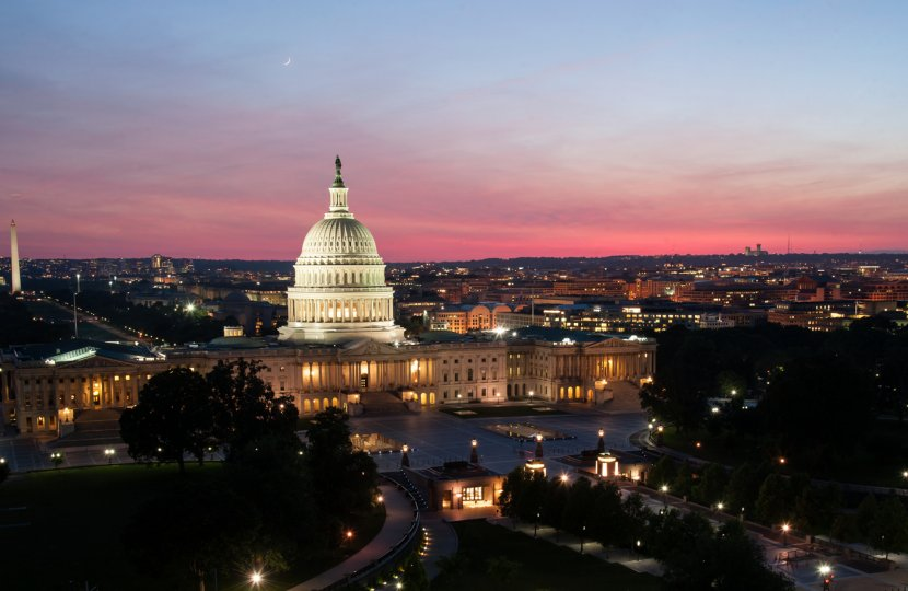Pink Sunset in May 2014 Courtesy of Architect of the Capitol
