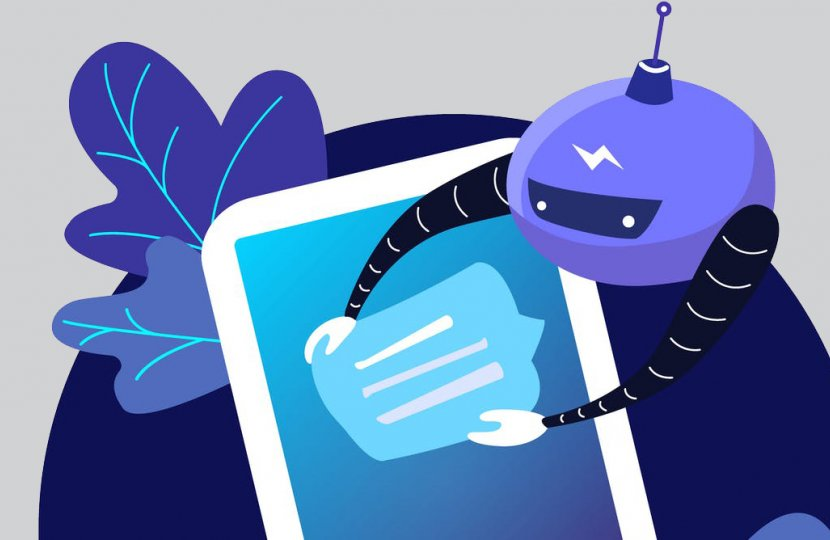 Illustration of a robot reaching into a smart phone