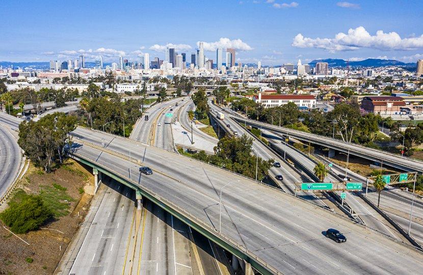 Photo of Los Angeles highways