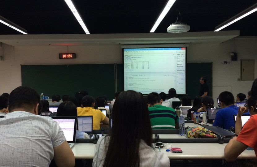 A class at the University of Michigan-Peking University Joint Institute.
