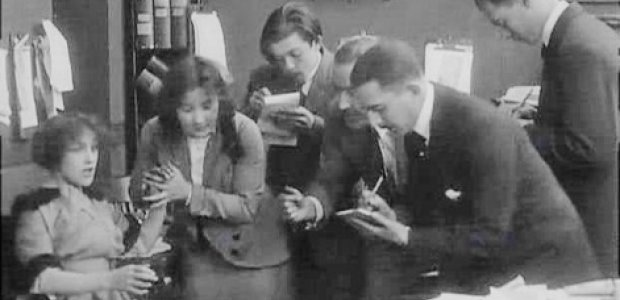 The image of the journalist in silent film
