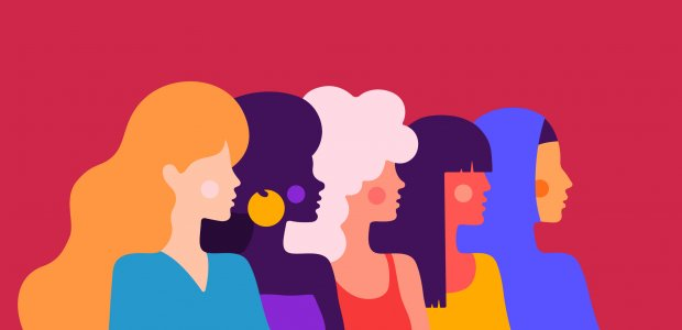 Illustration of many different women