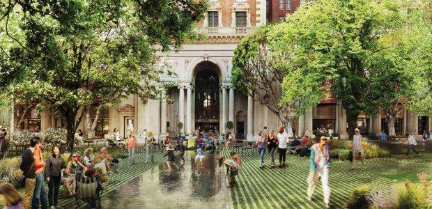 "Agence Ter's design for Pershing Square brings ""radical flatness"" back to the park."