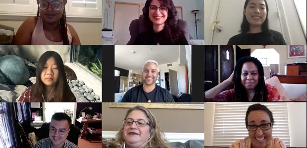 Photo of a video call