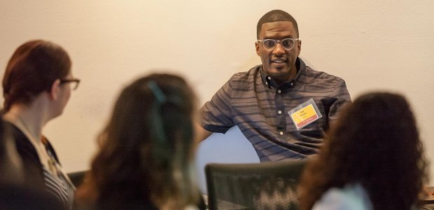 Professor Taj Frazier at the 2015 Summer Institute for Diversity in Media and Culture