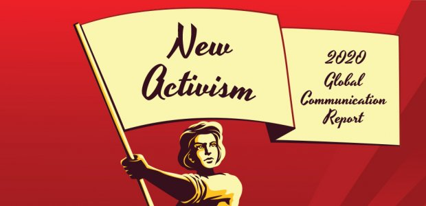 """Cover of 2020 Global Communication Report titled """"New Activism"""""""