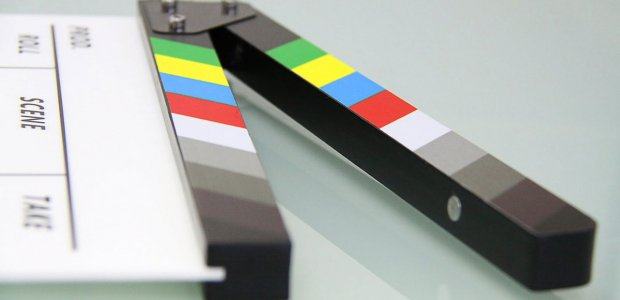 Photo of a movie clapperboard