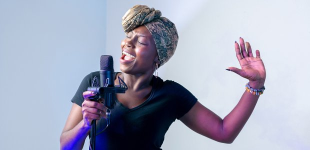 Photo of a person singing