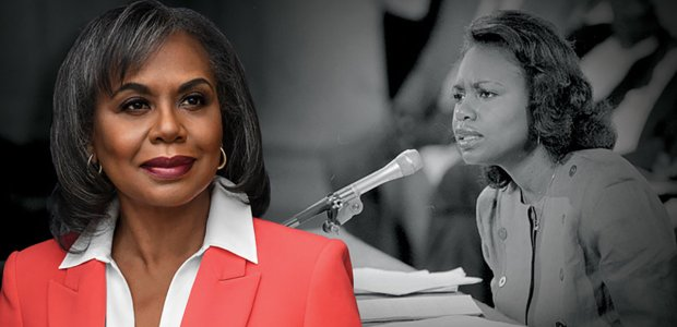 Collage of images of Professor Anita Hill