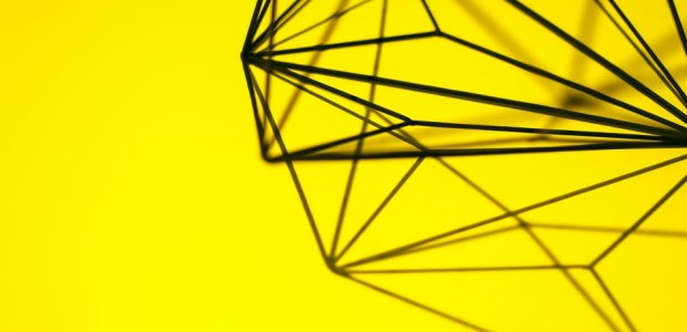 Photo of a yellow metal design decoration